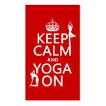 Keep Calm and Yoga On (customise colours)