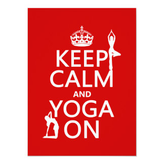 Keep Calm and Yoga On (customize colors) Card