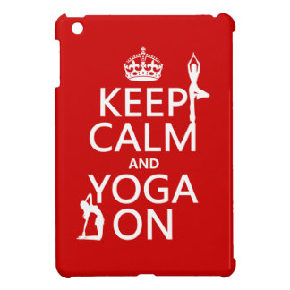 Keep Calm and Yoga On (customize colors) Case For The iPad Mini