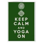 Keep Calm and Yoga On Greeting Card