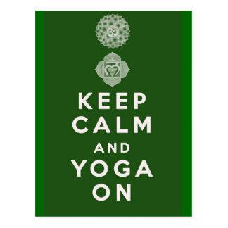 Keep Calm and Yoga On Postcard