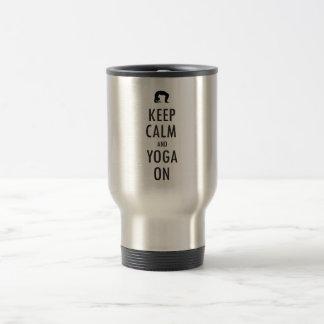 Keep Calm And yoga on Travel Mug