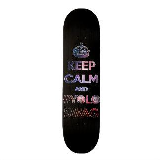 Keep calm and #yoloswag 21.3 cm mini skateboard deck