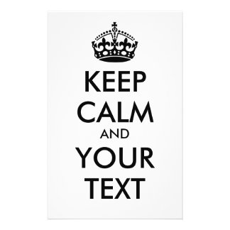 KEEP CALM and YOUR TEXT - black Flyer