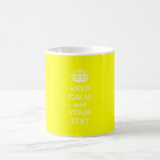 KEEP CALM and Your Text Customizable Mug yellow