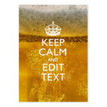 Keep Calm And Your Text for some Beer