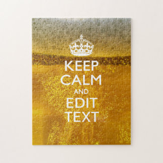 Keep Calm And Your Text for some Cold Beer Puzzle