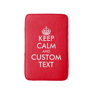 Keep calm and your text non slip bath mat
