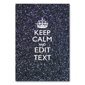 Keep Calm and Your Text on Midnight decor Card