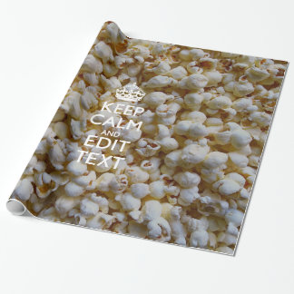KEEP CALM AND Your Text on Popcorn Wrapping Paper