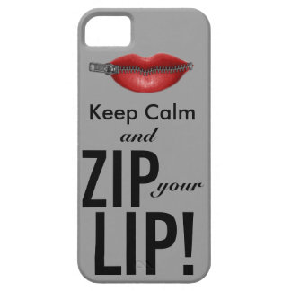 keep calm and zip your lip funny parody iPhone 5 cover