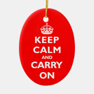 Keep Calm- Any Colour Christmas Ornament