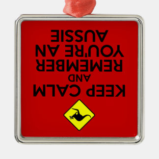 Keep calm Australian Christmas Ornament