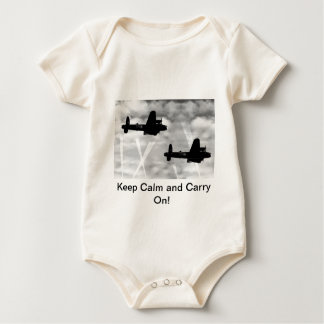 Keep Calm Avro Lancaster Baby Bodysuit