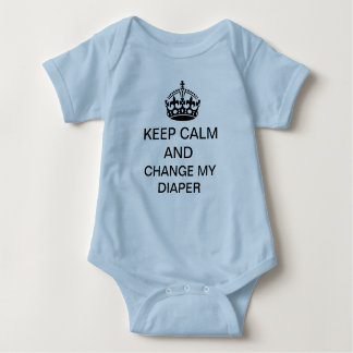 Keep Calm Baby Bodysuit