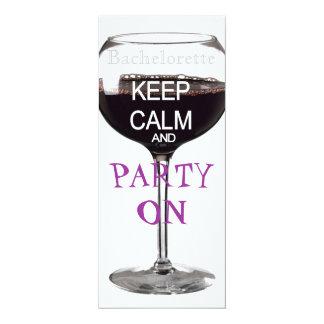 Keep Calm Bachelorette party drinks Invitation