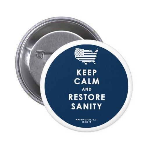 Keep Calm! Pinback Buttons