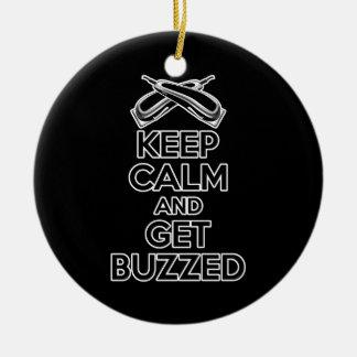 Keep Calm: Barber Humor Christmas Ornament