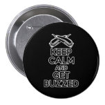 Keep Calm: Barber Humour 7.5 Cm Round Badge