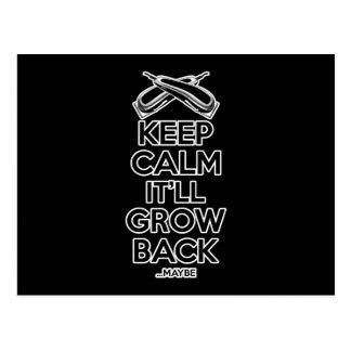Keep Calm: Barber Shop Humor Postcard