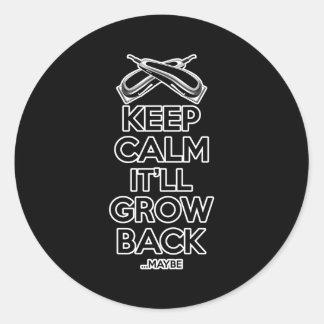 Keep Calm: Barber Shop Humor Round Sticker