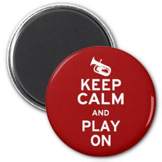 Keep Calm Baritone 6 Cm Round Magnet