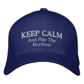 Keep Calm Baritone Music Embroidered Hat