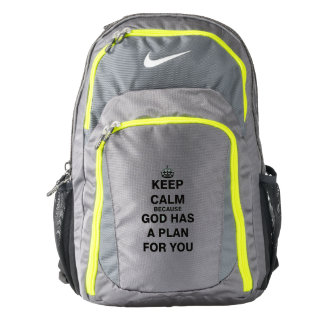 Keep Calm because God Has a Plan For You Backpack