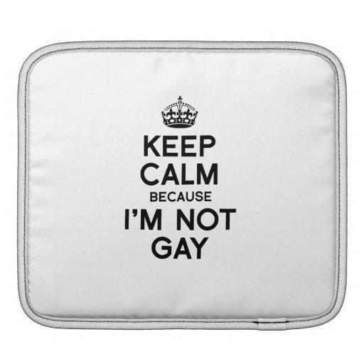 KEEP CALM BECAUSE I'M NOT GAY iPad SLEEVE