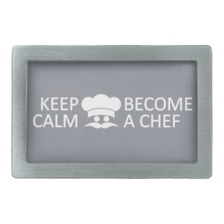 Keep Calm & Become a Chef custom belt buckle