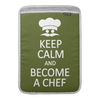Keep Calm & Become a Chef custom MacBook sleeve