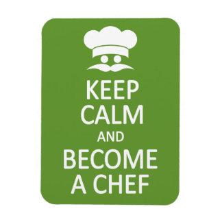 Keep Calm & Become a Chef custom magnet