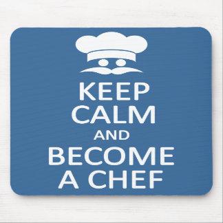 Keep Calm & Become a Chef custom mousepad