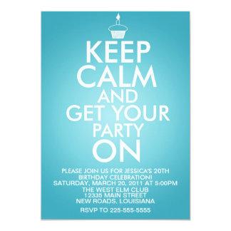 Keep Calm Birthday 13 Cm X 18 Cm Invitation Card