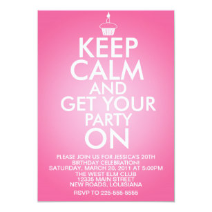 Keep calm birthday invitations zazzle uk keep calm birthday invitation filmwisefo