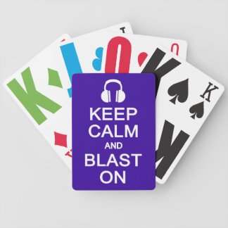 Keep Calm & Blast On playing cards