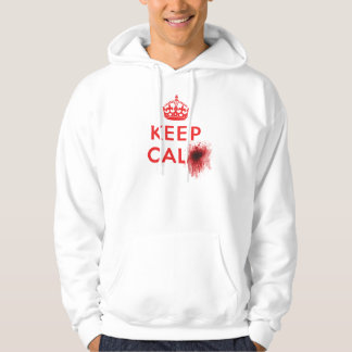Keep Calm (Blood Splatter) - Hoodie