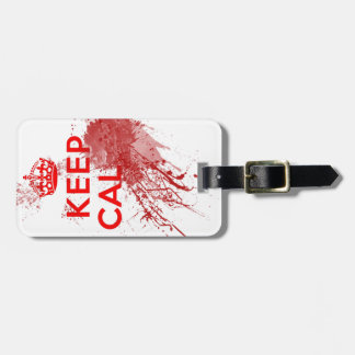 Keep Calm Bloody Zombie Luggage Tag