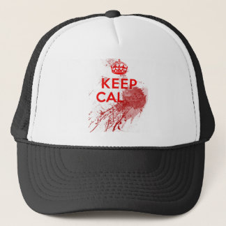 Keep Calm Bloody Zombie Trucker Hat