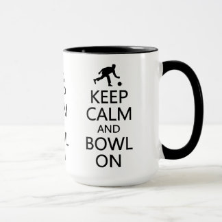 Keep Calm & Bowl On mug - choose style, color