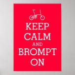 KEEP CALM Brompton bicycle poster