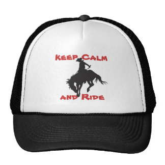 Keep Calm Bronco Buster Cap