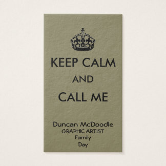 KEEP CALM BUSINESS CARD