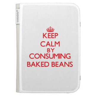 Keep calm by consuming Baked Beans Kindle Keyboard Cases
