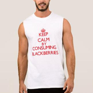 Keep calm by consuming Blackberries Sleeveless Shirts