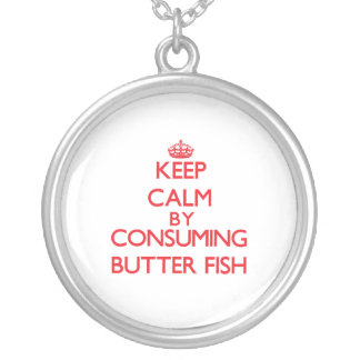 Keep calm by consuming Butter Fish Pendant