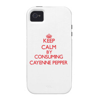 Keep calm by consuming Cayenne Pepper Vibe iPhone 4 Covers