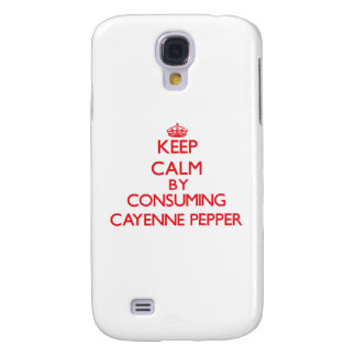 Keep calm by consuming Cayenne Pepper Samsung Galaxy S4 Case