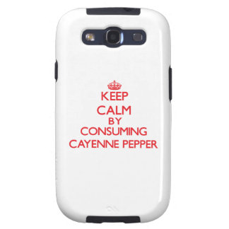 Keep calm by consuming Cayenne Pepper Samsung Galaxy S3 Cover