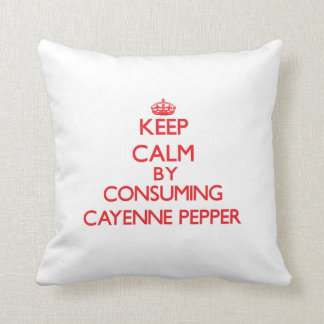 Keep calm by consuming Cayenne Pepper Throw Pillow